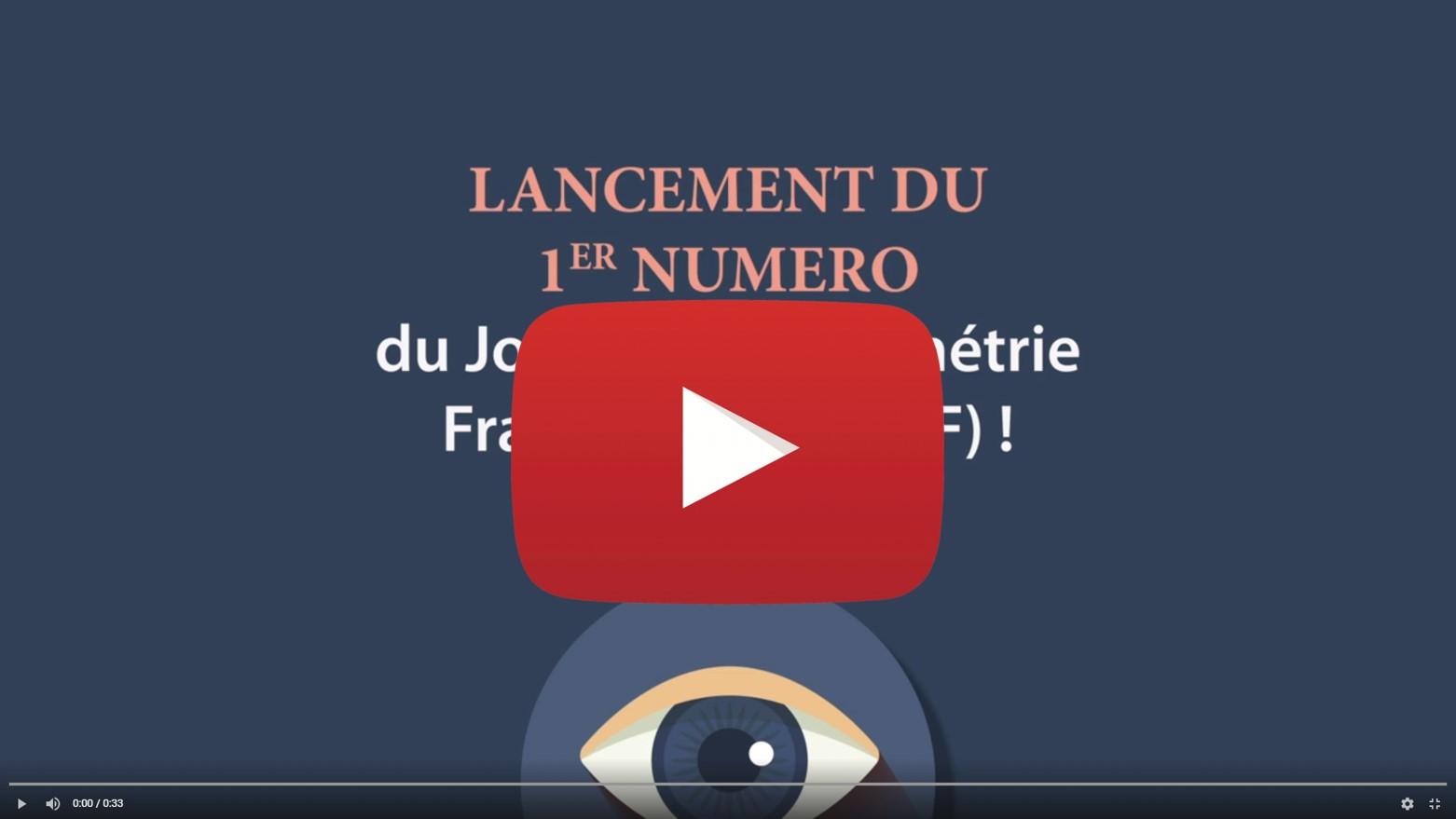 Lancement du Journal d'Optométrie Francophone