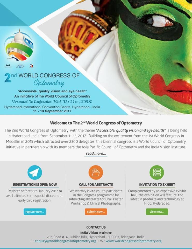 2ème Congrès Mondial de l'Optométrie