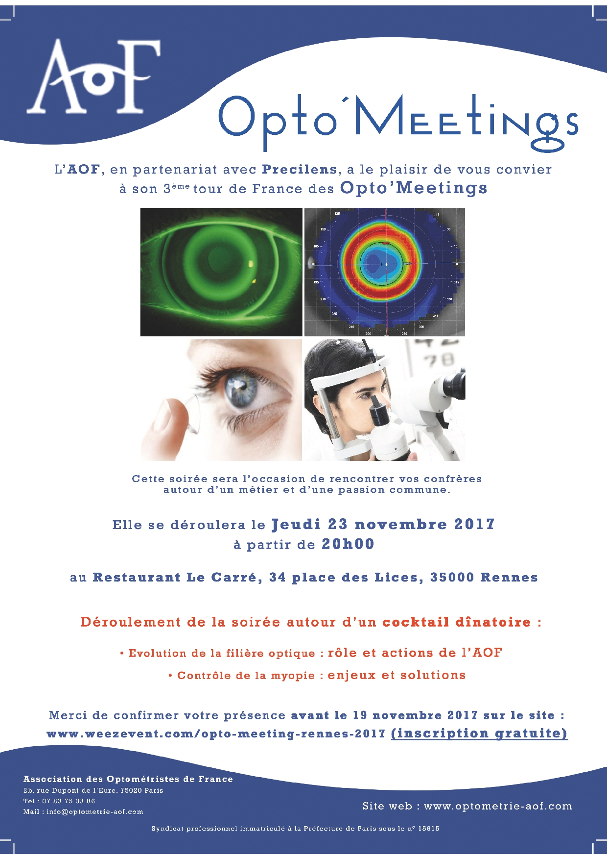Opto'Meeting RENNES : Inscription gratuite.