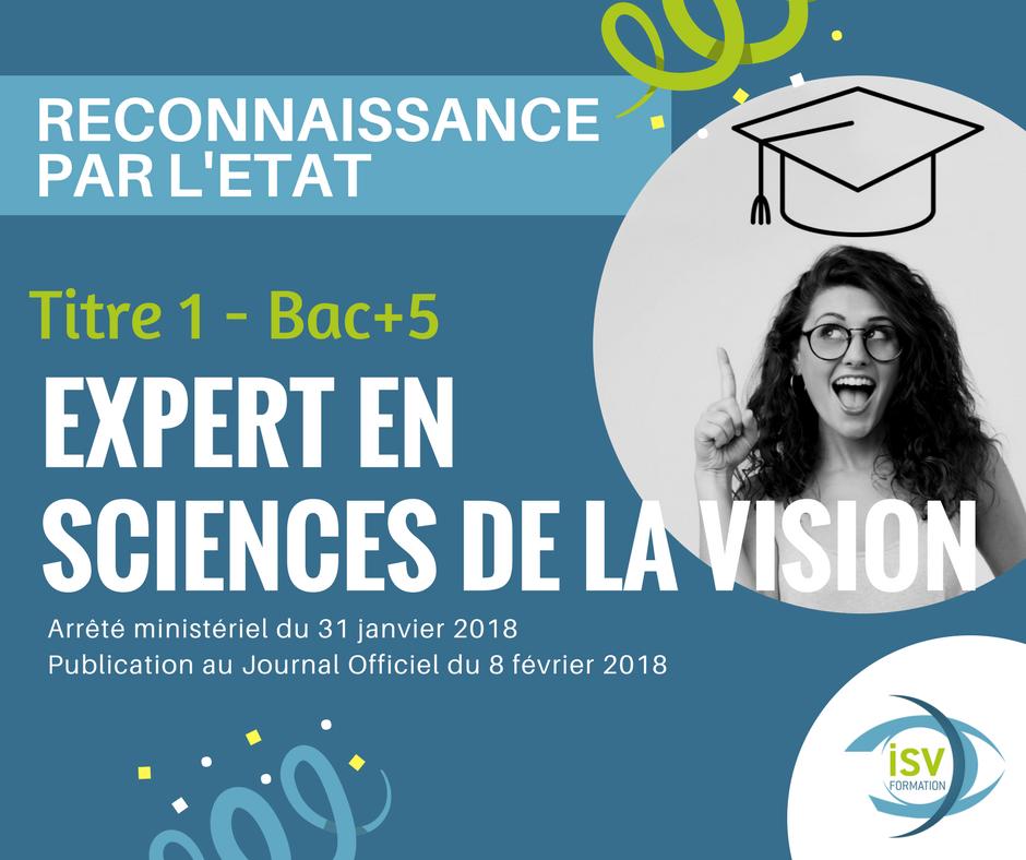 L'Optométrie compte un nouveau BAC+5 en France !