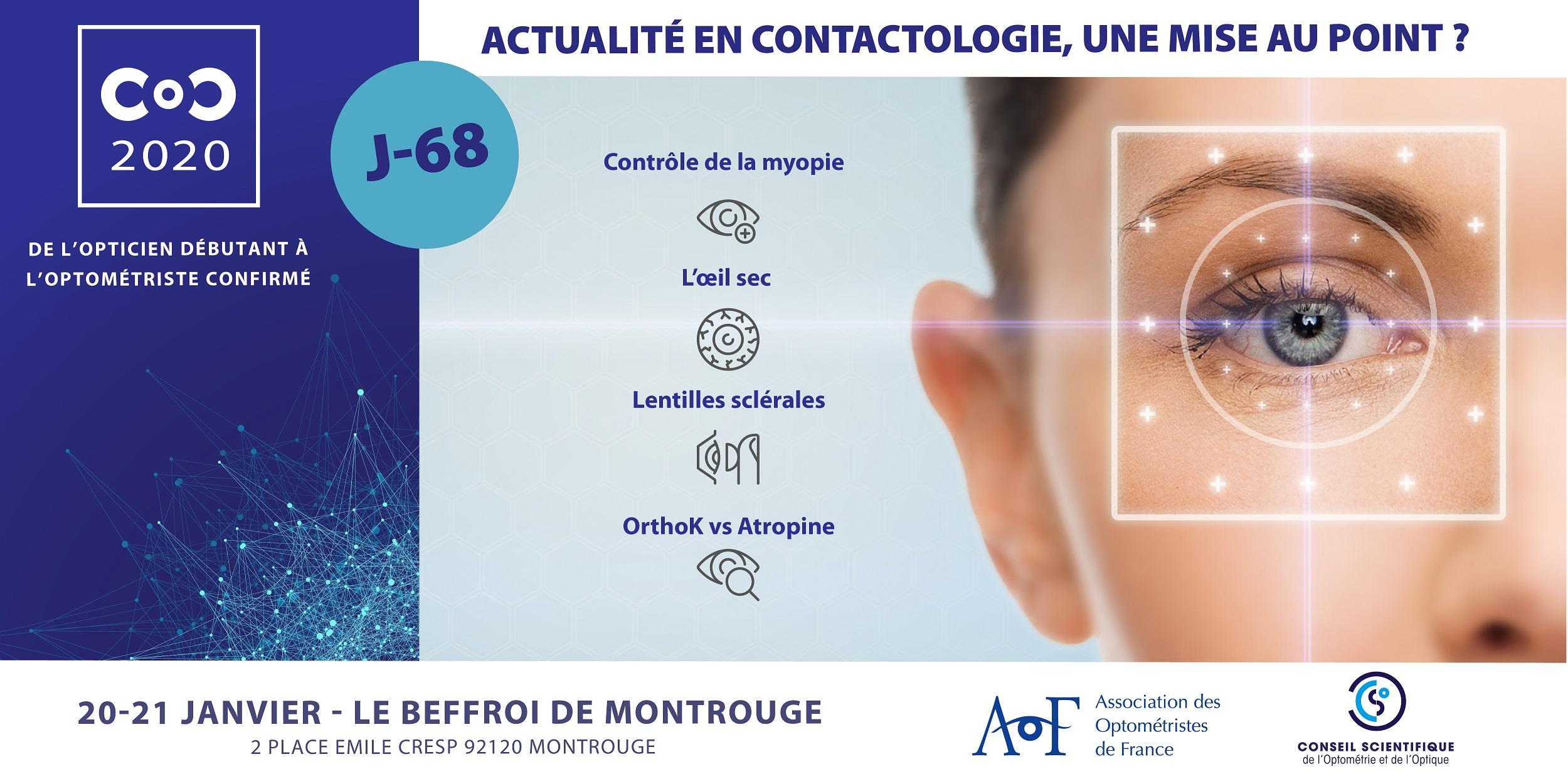 C.O.C.2020 / J-68 Actualité en contactologie, une mise au point ?