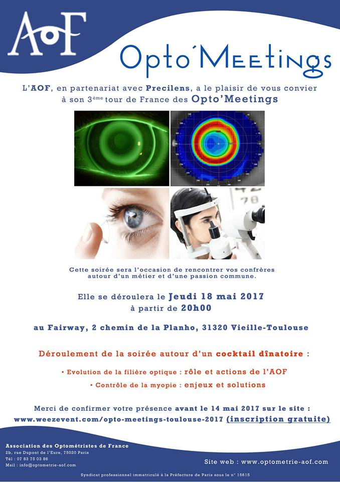 Opto'Meeting TOULOUSE, Inscription gratuite.