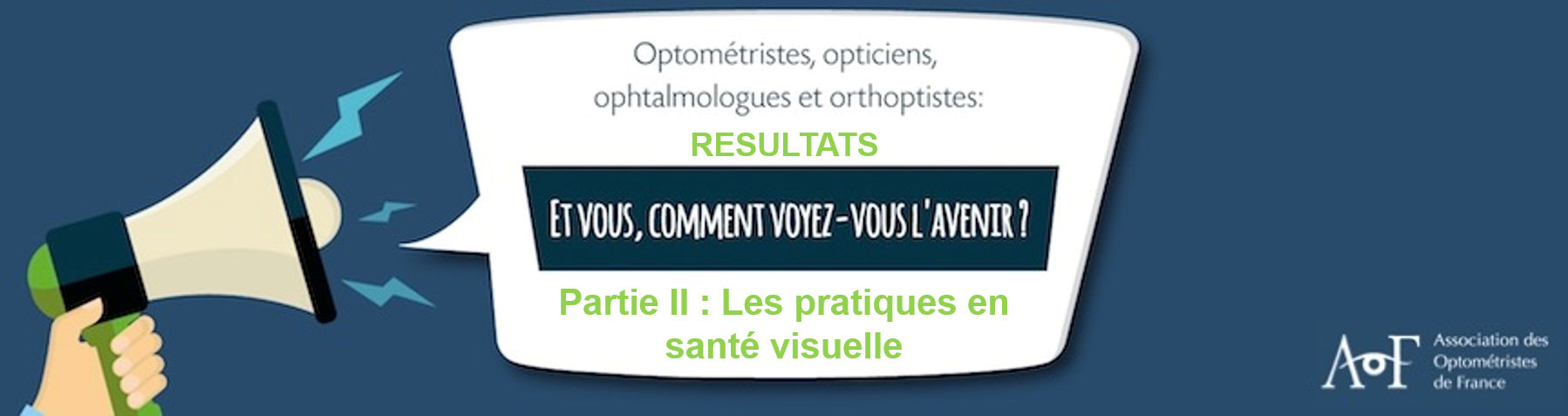 RÉSULTATS : Les pratiques en santé visuelle -