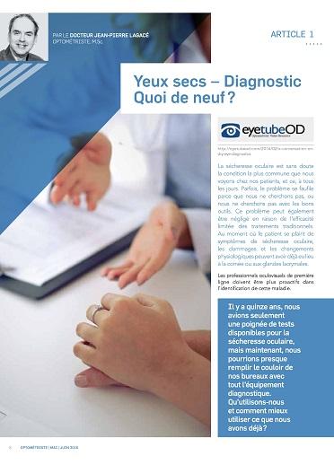 Yeux secs – Diagnostic Quoi de neuf ?