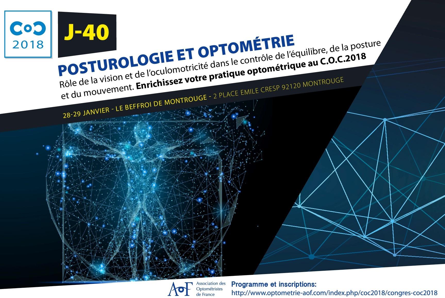 C.O.C 2018 J-40 : Posturologie et optométrie