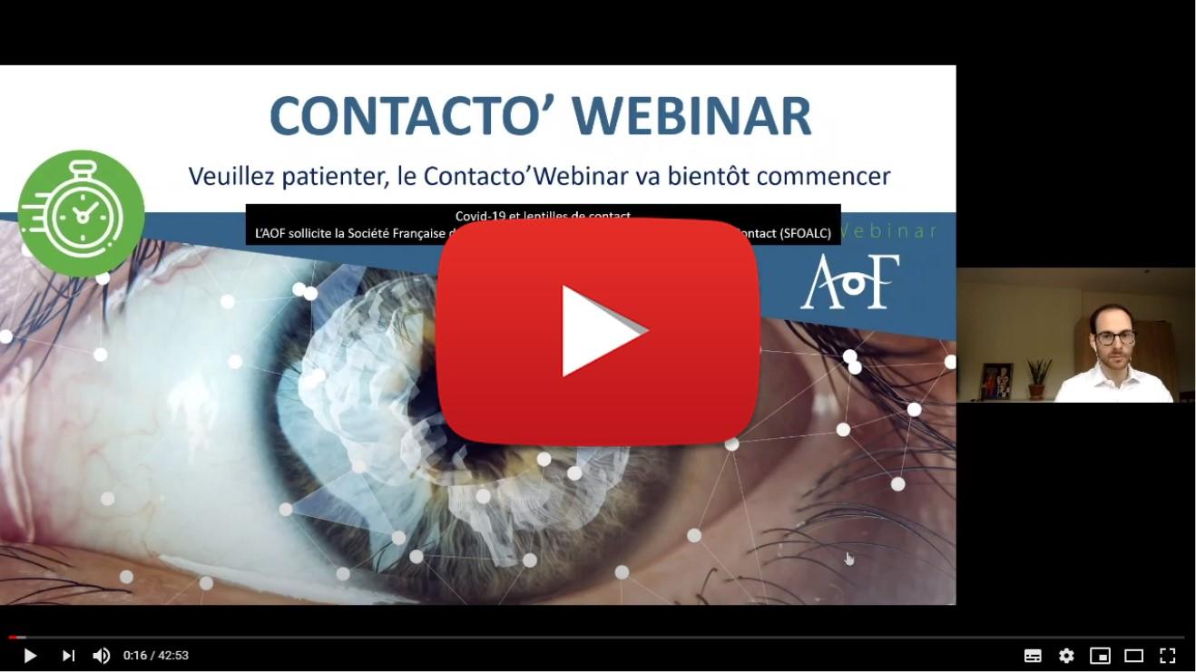 | Covid-19 et lentilles de contact | par l'AOF et la SFOALC