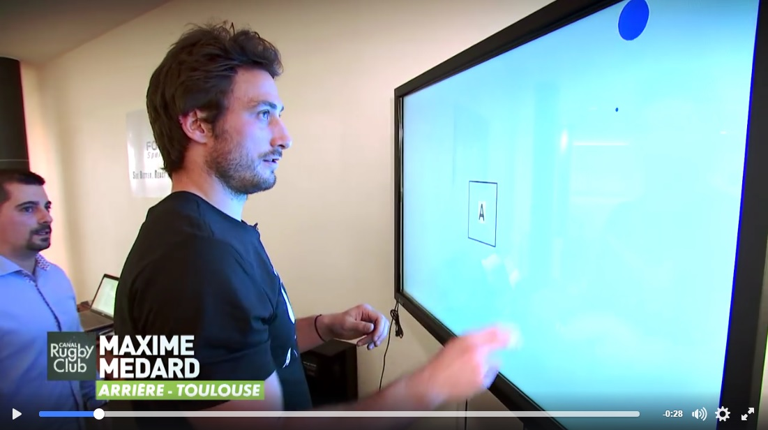 Fouroux Sport Vision, et l'entrainement visuel du sportif sur Canal+